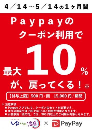 5月Paypay10%還元POP