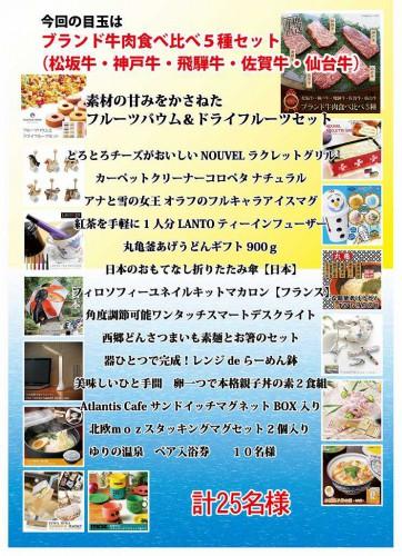s-夏 抽選会賞品目録 8月